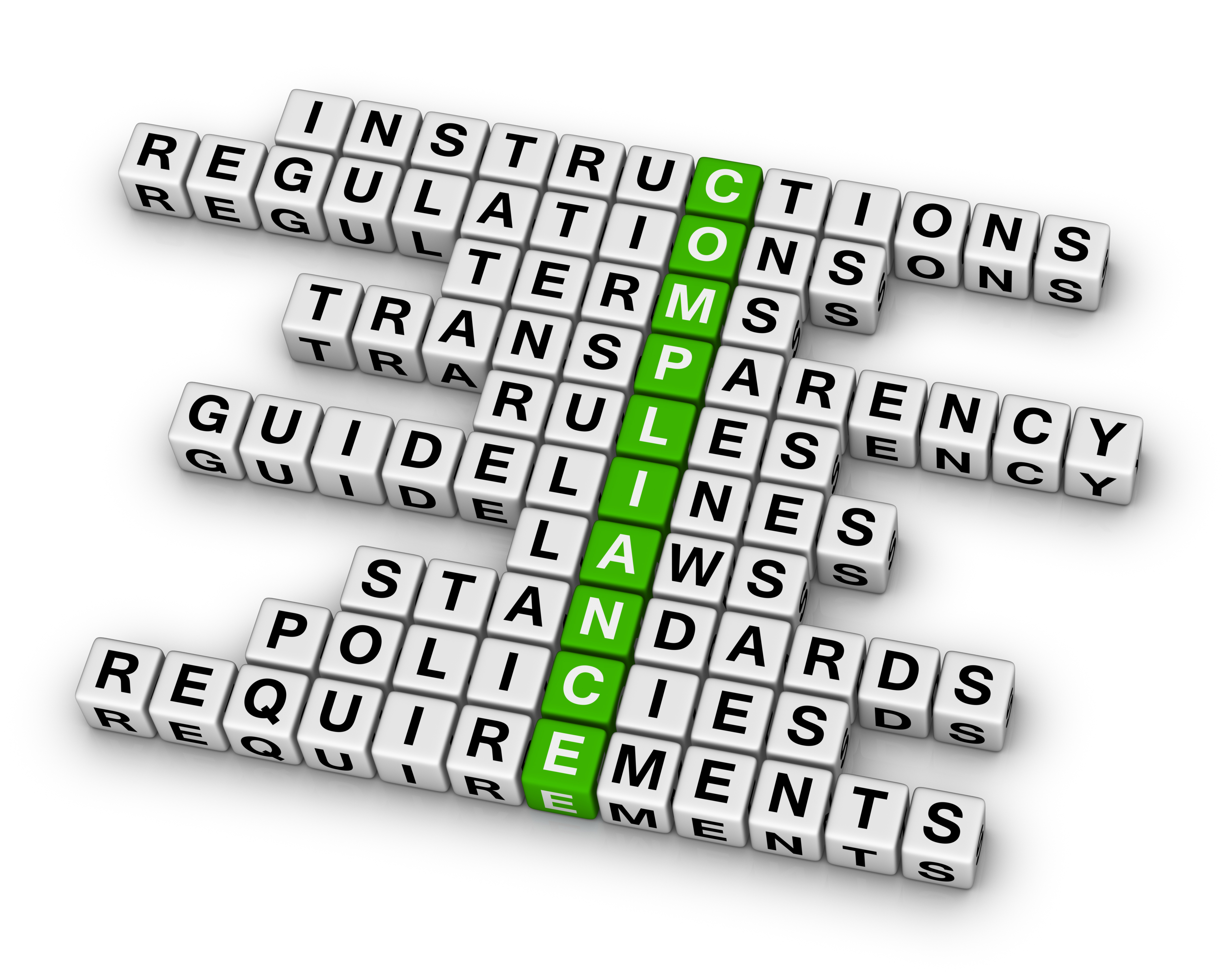 Compliance Crossword Green for i2i