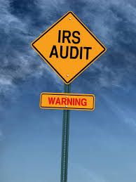 IRS Audit Road Sign