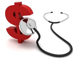Stethoscope on money